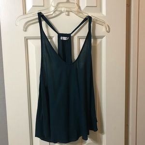 Jade green free people tank top